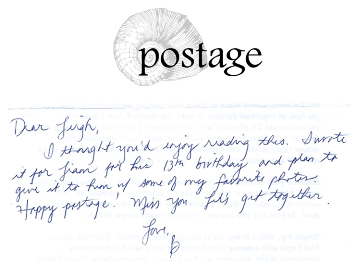 Postage from Brenda