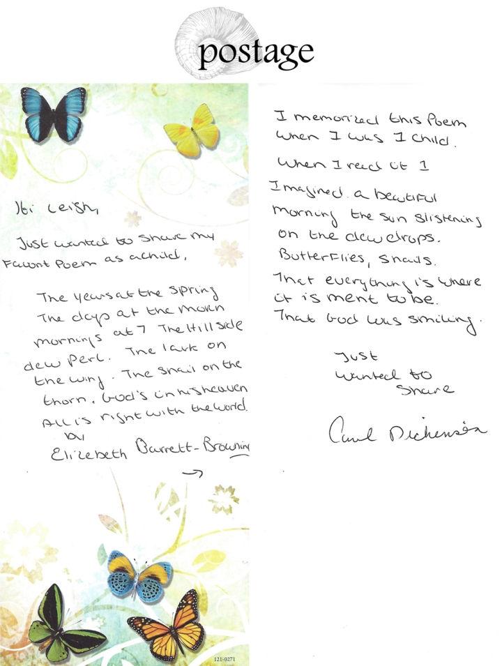 Postage from Carol