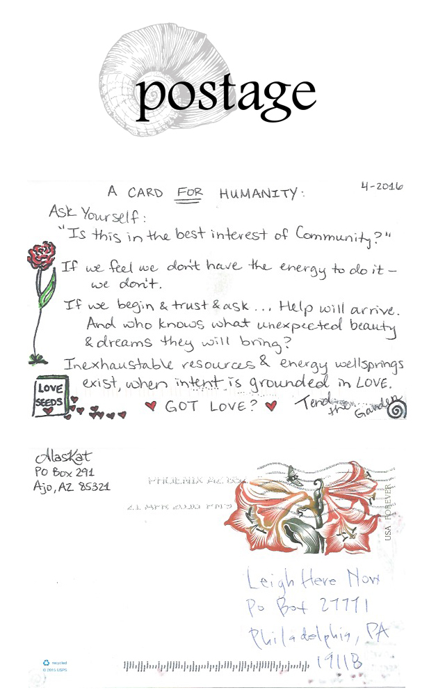 Postage from Alaskat / A Card for Humanity