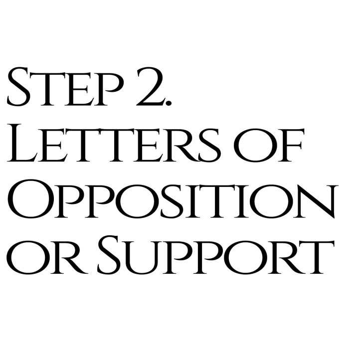 Method 2: Letters of Opposition or Support