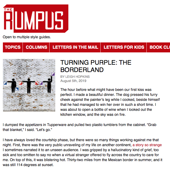 New column at The Rumpus!